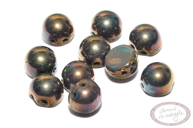 Margele Cabochon Oxidized Bronze