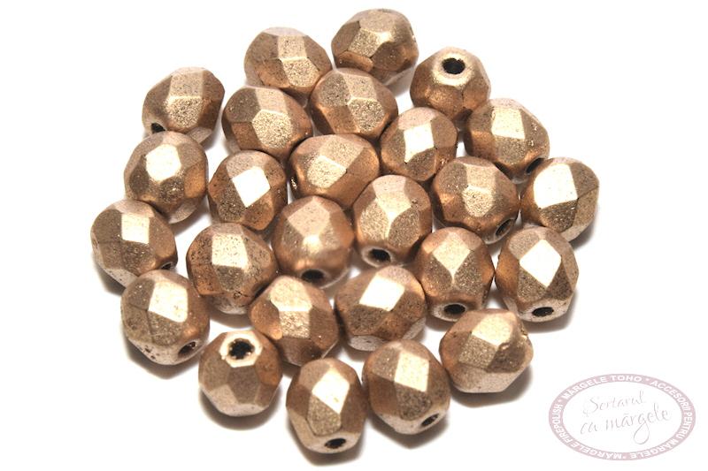 Margele Fire Polish 4mm Matte Metallic