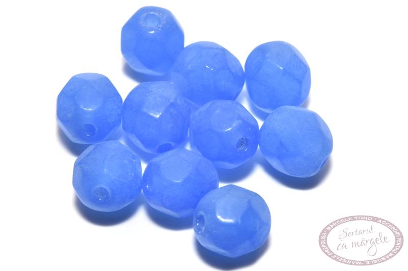 Margele Fire Polish 6mm Milky Dk Sapphire
