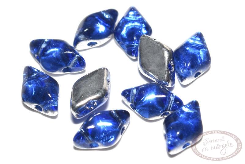 Margele GemDuo 8X5mm Backlit Sapphire