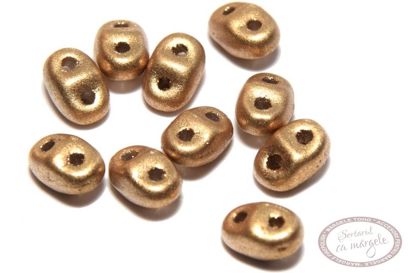 Margele MiniDuo 2.5x4mm Matte Metallic