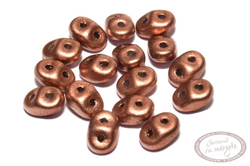 Margele Superduo Matte Metallic Copper