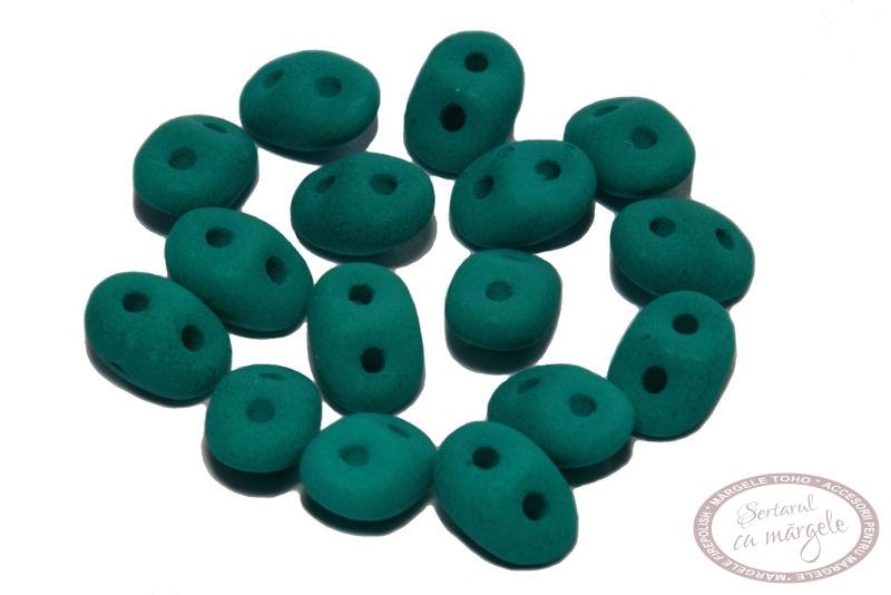 Margele Superduo Neon Dark Emerald