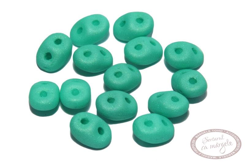 Margele Superduo Neon Silk Mint