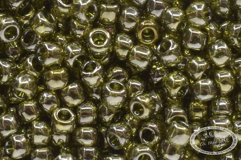 Margele TOHO 11 Gold Lustered Green Tea