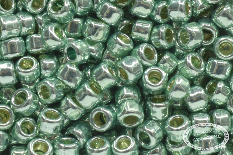 Margele TOHO 11 PermaFinish Galvanized Mint Green 1