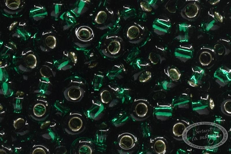 Margele TOHO 11 Silver Lined Green Emerald 1