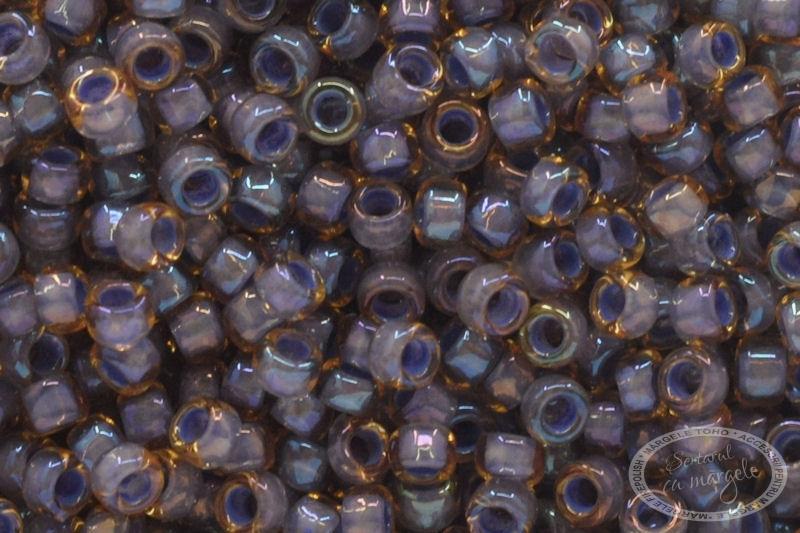 Margele TOHO 15 Inside Color Lt. Topaz Opaque Lavender Lined 1