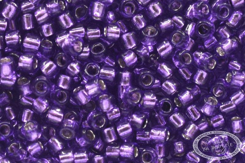 Margele TOHO 15 Silver Lined Purple 1