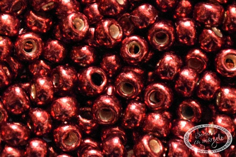 Margele TOHO 8 PermaFinish Galvanized Brick Red