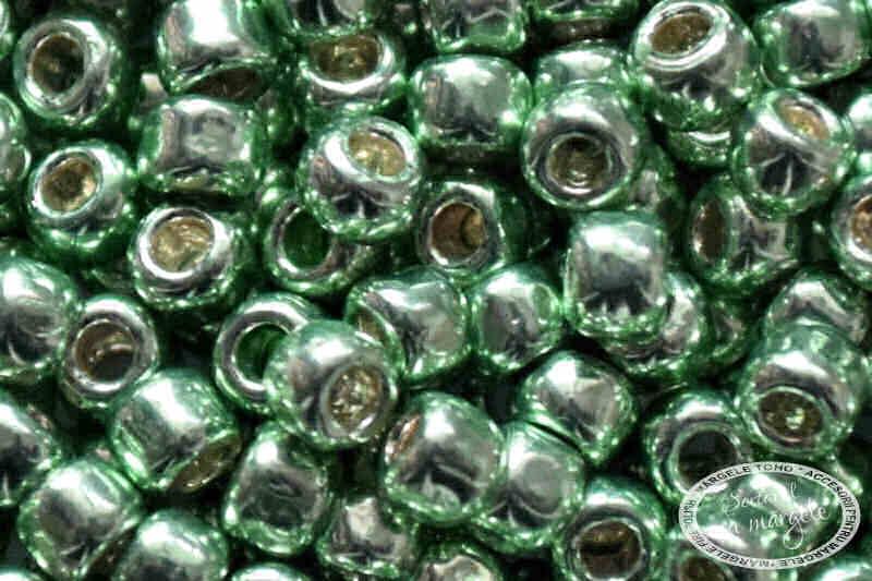 Margele TOHO 8 PermaFinish Galvanized Mint Green