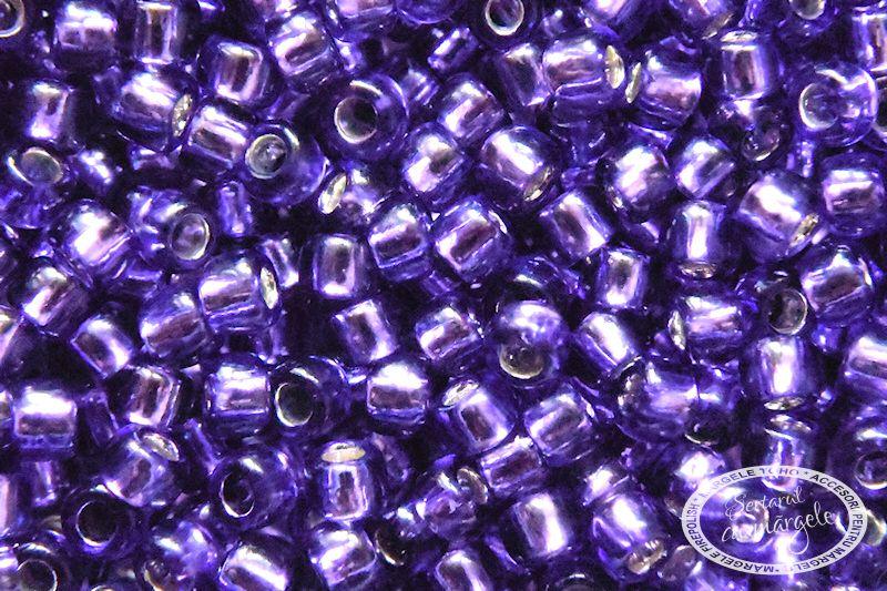 Margele TOHO 8 Silver Lined Purple