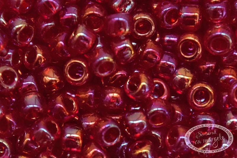 Margele TOHO 8 Transparent Rainbow Ruby