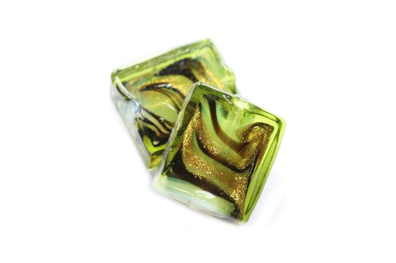 Rectangle green 14 X 16 mm