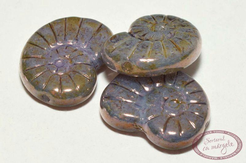margele presate snails 17x13 mm luster 01