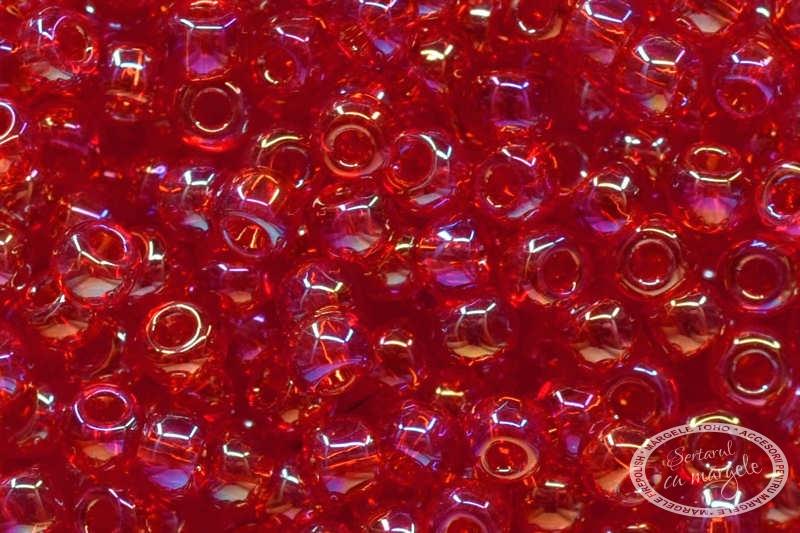 Margele TOHO 11 Transparent Rainbow Siam Ruby 1