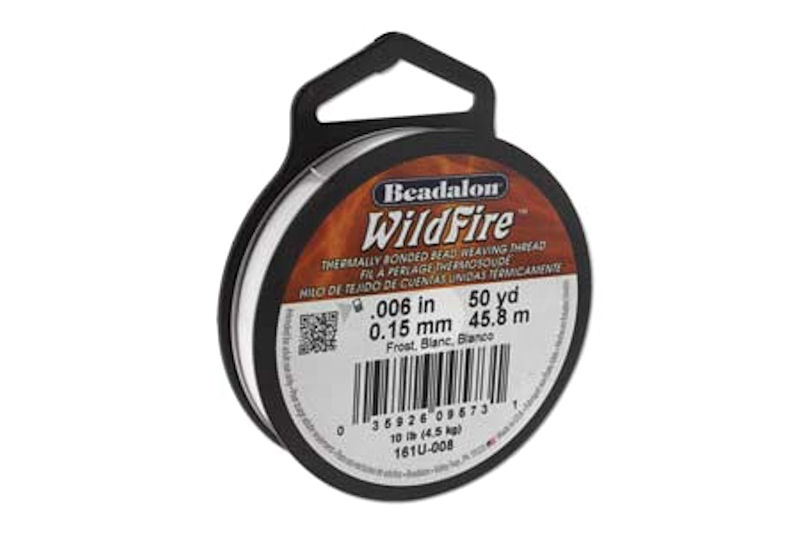 fir beadalon wildfire 0 15mm alb opac 50