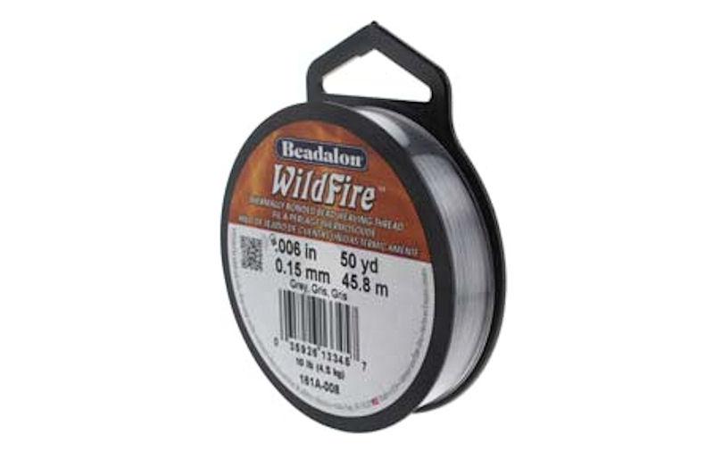 fir beadalon wildfire 0 15mm gri 50