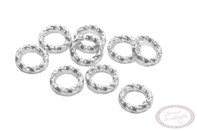 Zale 6mm rasucite placate cu argint