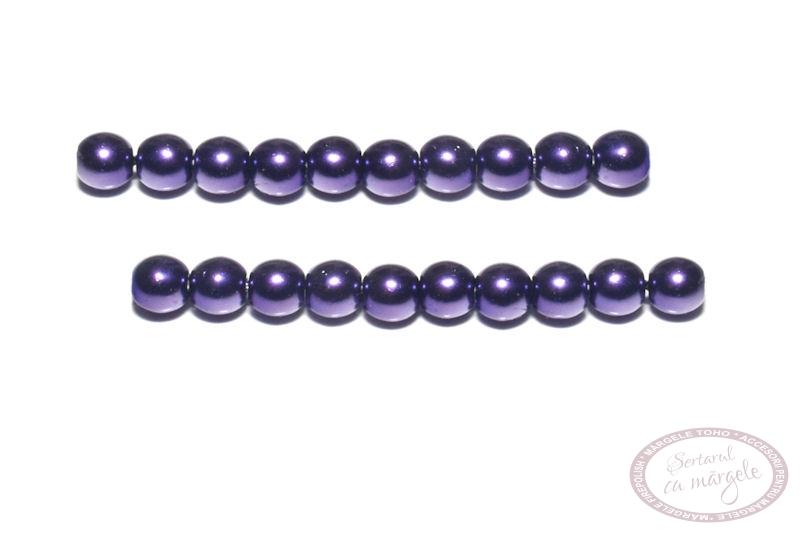 Perle din sticla 4mm Purple