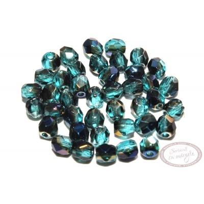 Margele Fire Polish 3mm : Blue Iris - Teal, 80 buc