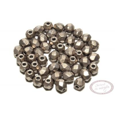 Margele Fire Polish 3mm : ColorTrends: Saturated Metallic Hazelnut, 80 buc