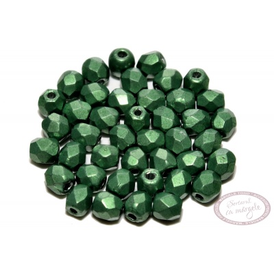 Margele Fire Polish 3mm : ColorTrends: Saturated Metallic Kale, 80 buc