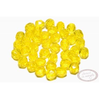 Margele Fire Polish 3mm : Lemon, 80 buc
