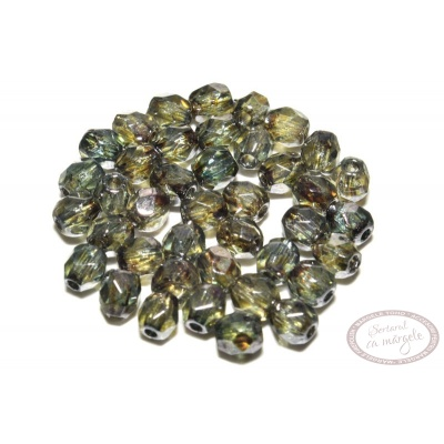 Margele Fire Polish 3mm : Luster - Transparent Green, 80 buc
