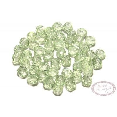 Margele Fire Polish 3mm : Peridot, 80 buc