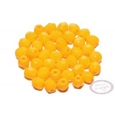 Margele Fire Polish 3mm : Sunflower Yellow, 80 buc