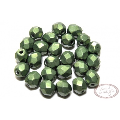 Margele Fire Polish 3mm : ColorTrends: Saturated Metallic Greenery, 80 buc