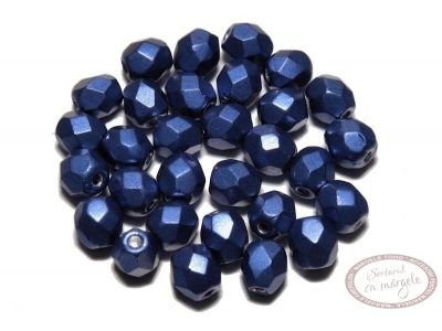 Margele Fire Polish 4mm : ColorTrends: Saturated Metallic Lapis Blue, 60 buc