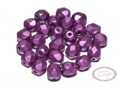 Margele Fire Polish 4mm : ColorTrends: Saturated Metallic Spring Crocus, 60 buc