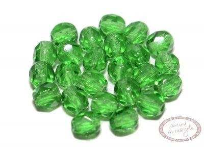 Margele Fire Polish 4mm : Green, 60 buc