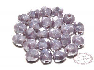 Margele Fire Polish 4mm : Luster Lt. Opaque Lavender, 60 buc