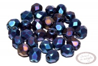 Margele Fire Polish 4mm : Matte - Iris - Blue, 60 buc