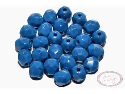 Margele Fire Polish 4mm : Opaque Blue, 60 buc