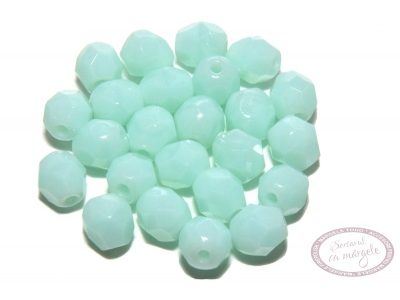 Margele Fire Polish 4mm : Opaque - Pale Turquoise, 60 buc