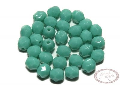 Margele Fire Polish 4mm : Opaque Turquoise, 60 buc