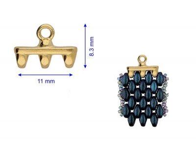 ROZOS - terminatie bratari/cercei speciala pentru SuperDuo, placata cu aur 24K